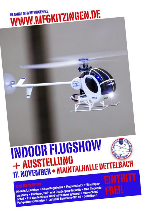 Plakat Indoor Flugshow 2013
