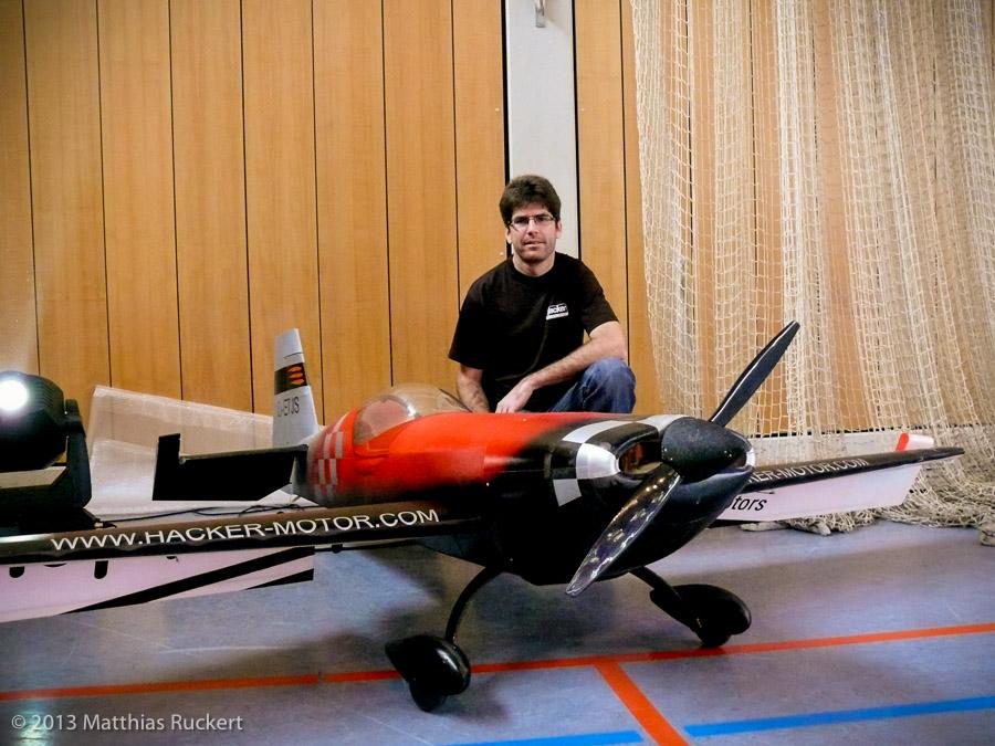 Thomas Schunk mit seiner Extra 330 SC