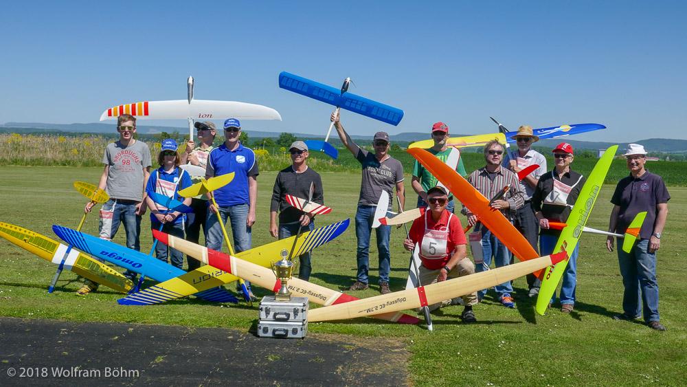 Teilnehmer 33. Frankentablett | F5B-J Bavarian Open 2018